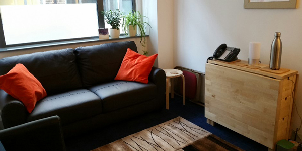 Counselling & therapy room - Liverpool St station, City of London EC2M - sofa